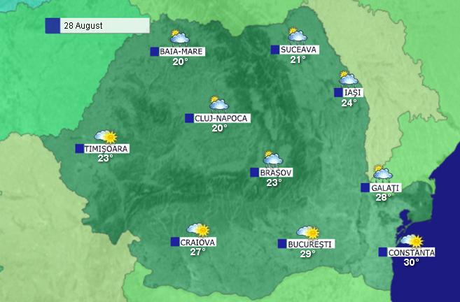Prognoza Meteo In Romania In Intervalul 27 29 August 2010